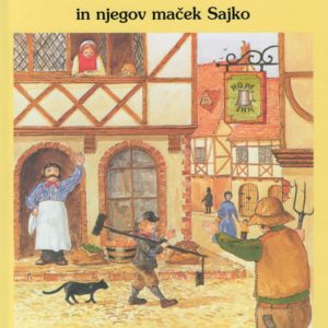 Slikanica Dimnikarček Čarli in njegov maček Sajko