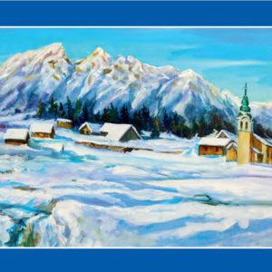 Voščilnica Zimska pokrajina