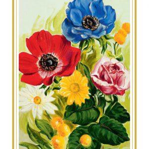 Rojstnodnevna voščilnica Cvetje