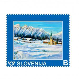 Umetniška poštna znamka Zimska pokrajina II